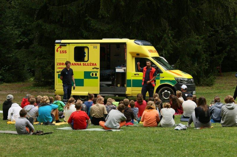 Ukázka záchranné služby